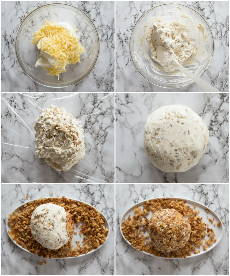 how to make a cheese ball - step by step photos
