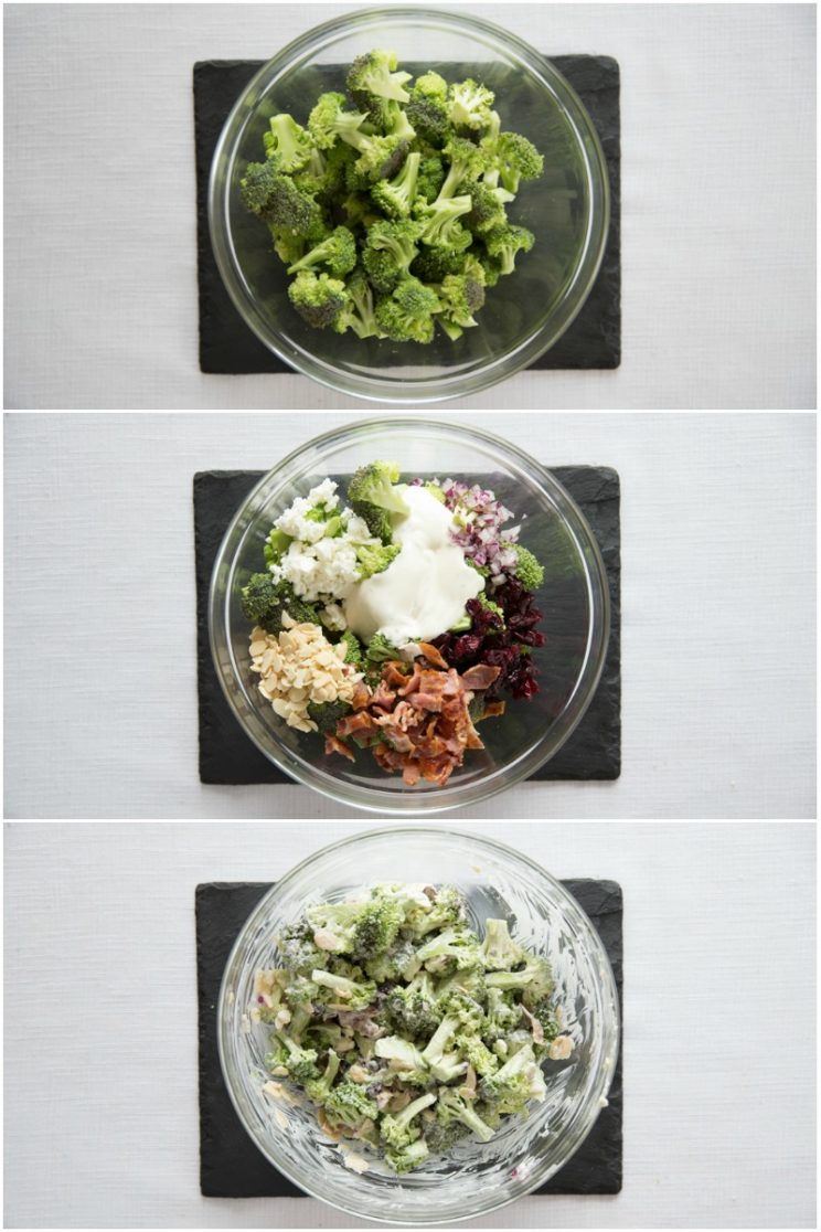 How to make a Crunchy Broccoli Salad step by step