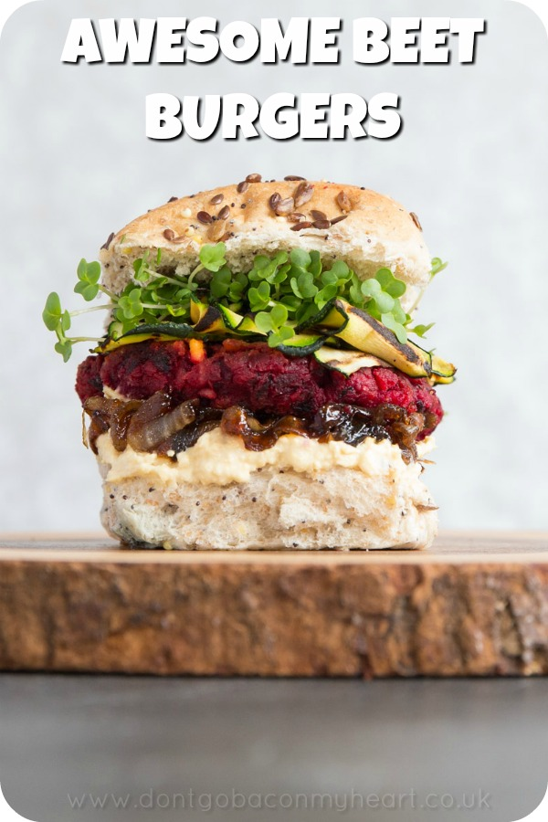 These Beetroot Burgers really are the ultimate veggie burger! Follow these tips and tricks for how to get veggie burgers with the PERFECT texture and flavour. #veggie #vegetarian #veggieburger | www.dontgobaconmyheart.co.uk