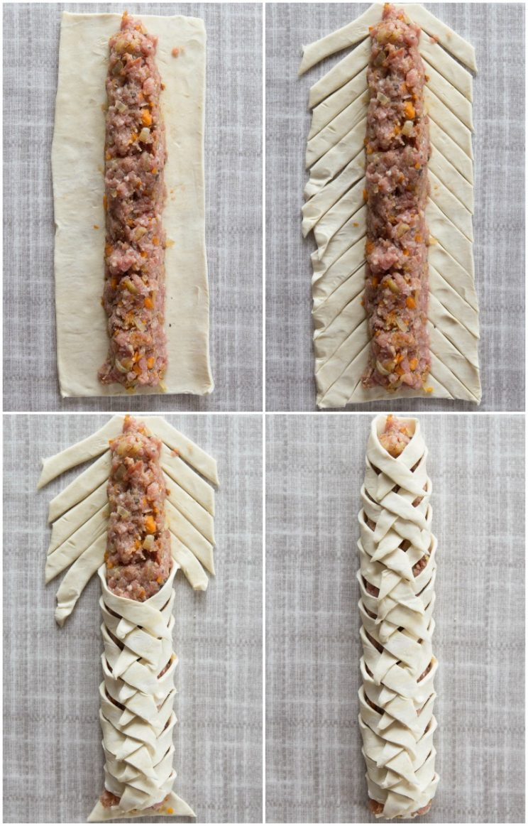 How to make homemade sausage in a plait style - step by step