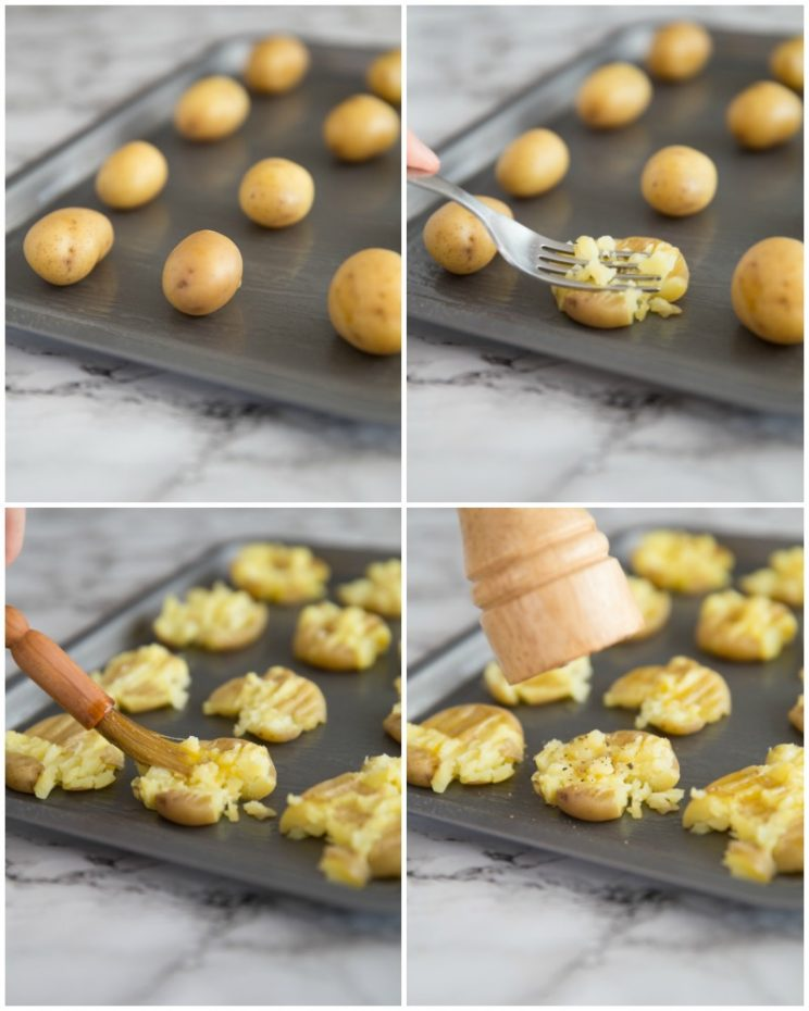 How to make Smashed Potatoes - step by step
