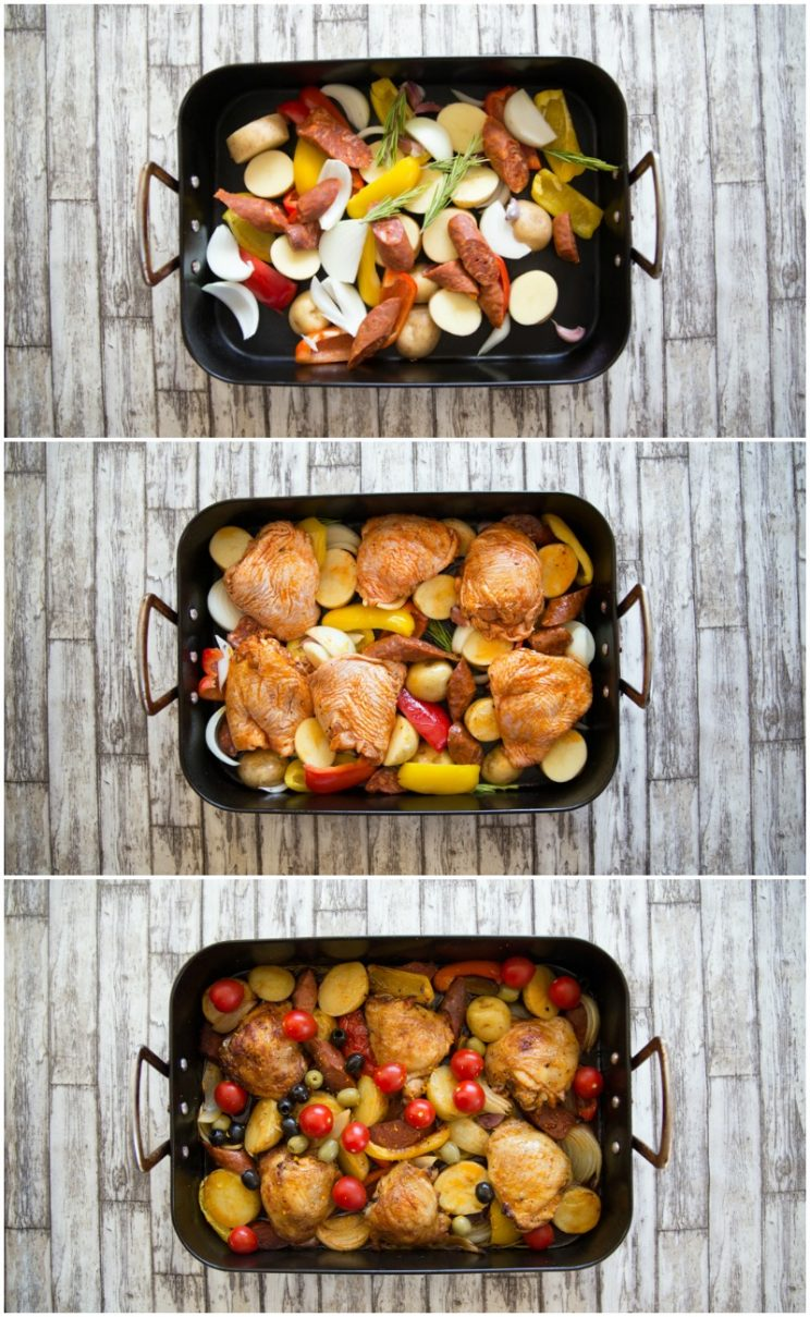 How to make Spanish Chicken Tray Bake step by step