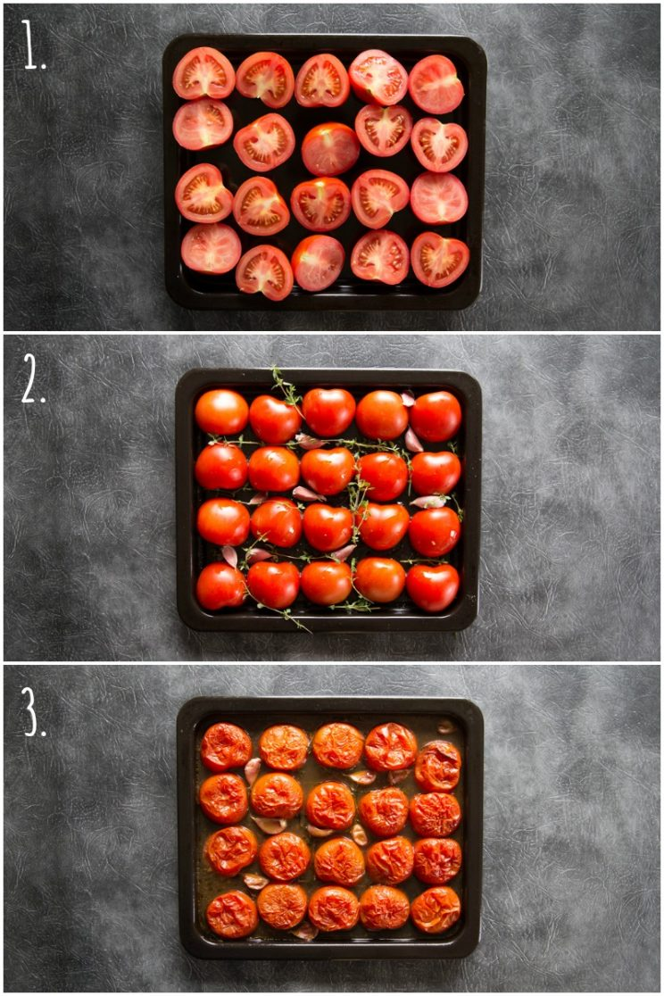 How to roast tomatoes - step by step