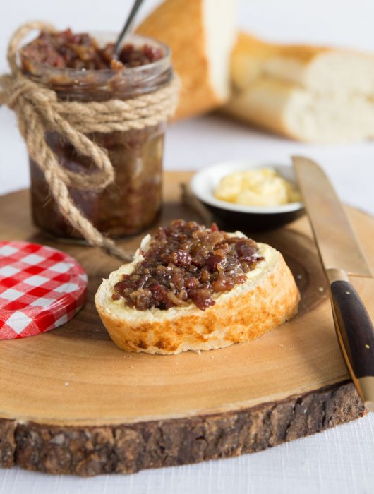 Bacon Jam on bread and butter