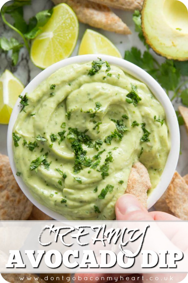 This Avocado Dip is the perfect quick fix dip for any occasion. With only 5 ingredients it really couldn't be more simple to make! #avocado #dip | www.dontgobaconmyheart.co.uk