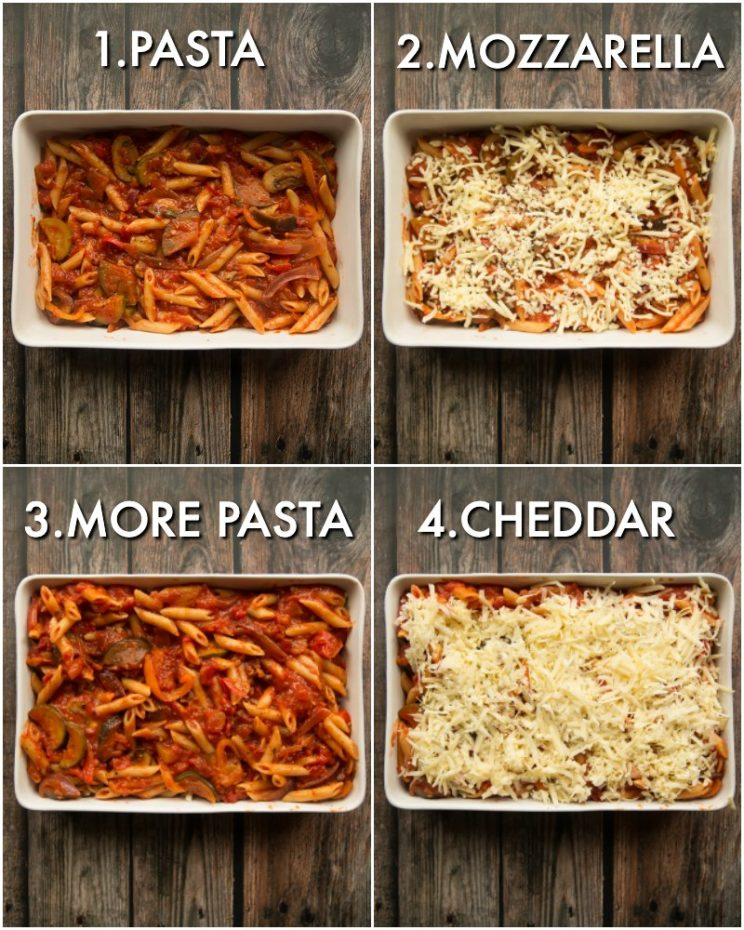 How to Bake Vegetable Pasta Bake
