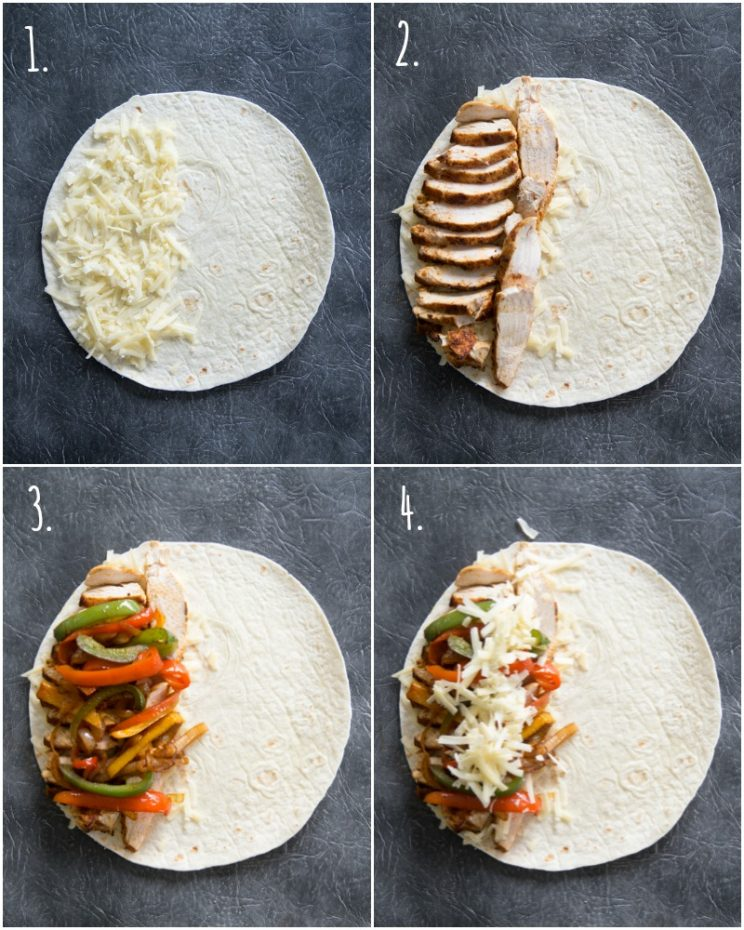 Quesadilla fillings - step by step