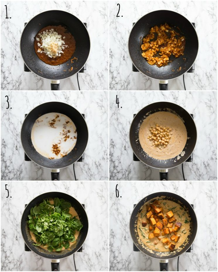 How to make Sweet Potato Curry - step by step