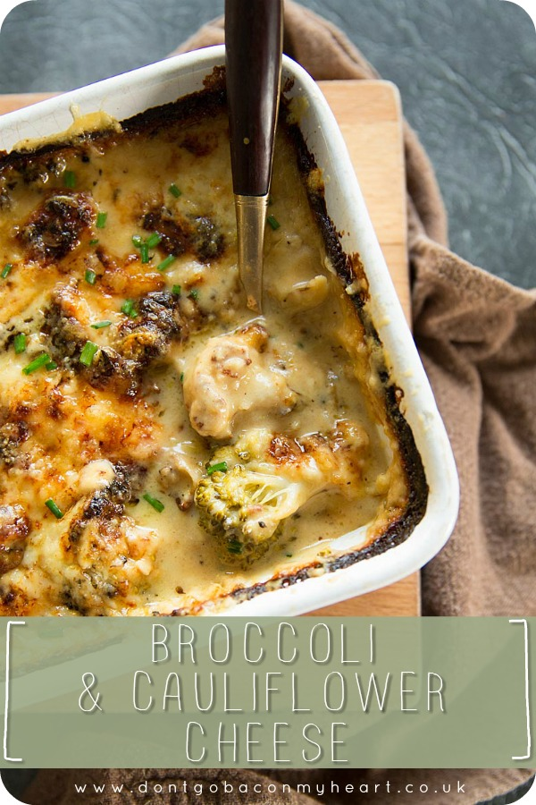 No roast dinner is complete without a Broccoli and Cauliflower Cheese bake. This is the easiest, cheesiest & most darn right delicious side dish you'll ever make! #broccoli #cauliflower #cauliflowercheese #cheese | www.dontgobaconmyheart.co.uk