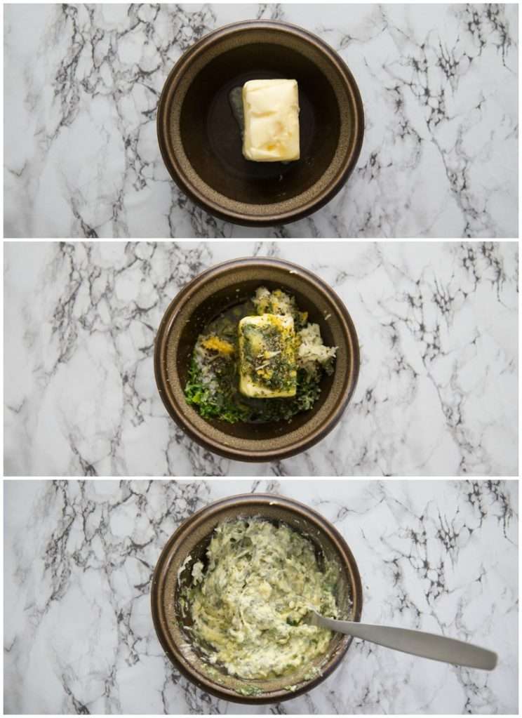 How to make Garlic Herb Butter - step by step