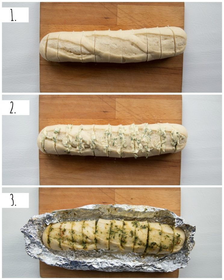 How to make roasted garlic bread - step by step
