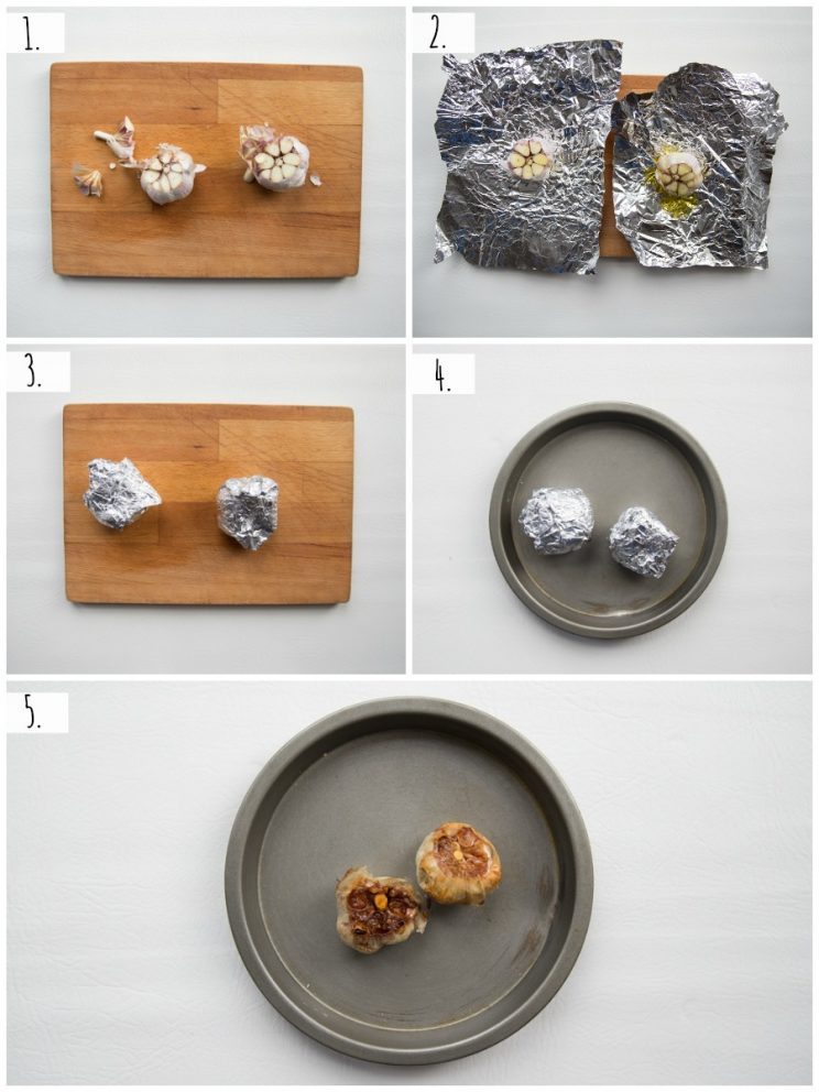 how to roast garlic - step by step