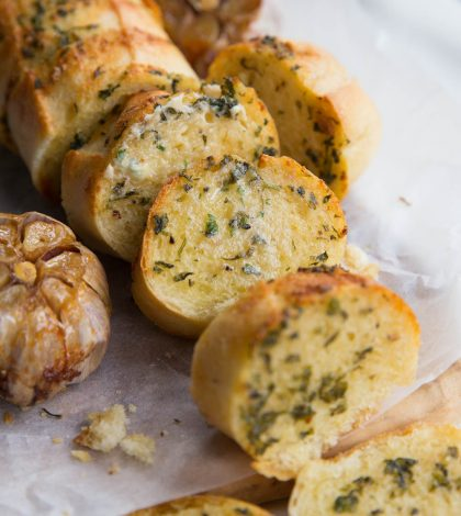 Roasted Garlic Bread fresh out the oven