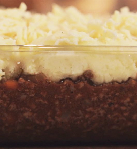 Easy Cheesy Cottage Pie - pre oven
