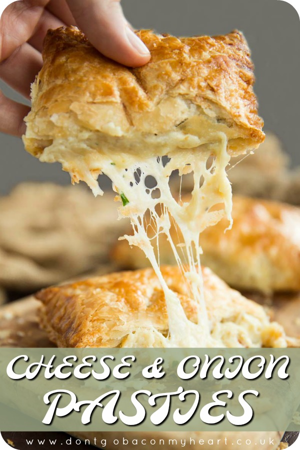 Is there a more delicious combo than cheese, onion and potato? Absolutely not when it's pouring out of puff pastry that's for sure! #cheese #onion #potato #pasties | www.dontgobaconmyheart.co.uk