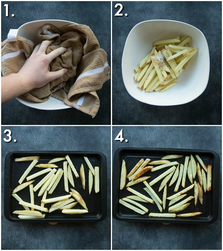 How to bake french fries - step by step photos