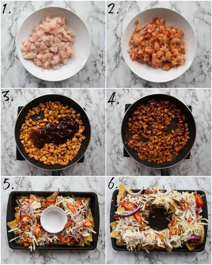 How to make BBQ Chicken Nachos - Step by step photos (6 steps)