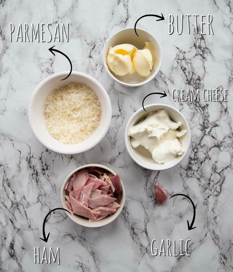 Cream cheese sauce ingredients