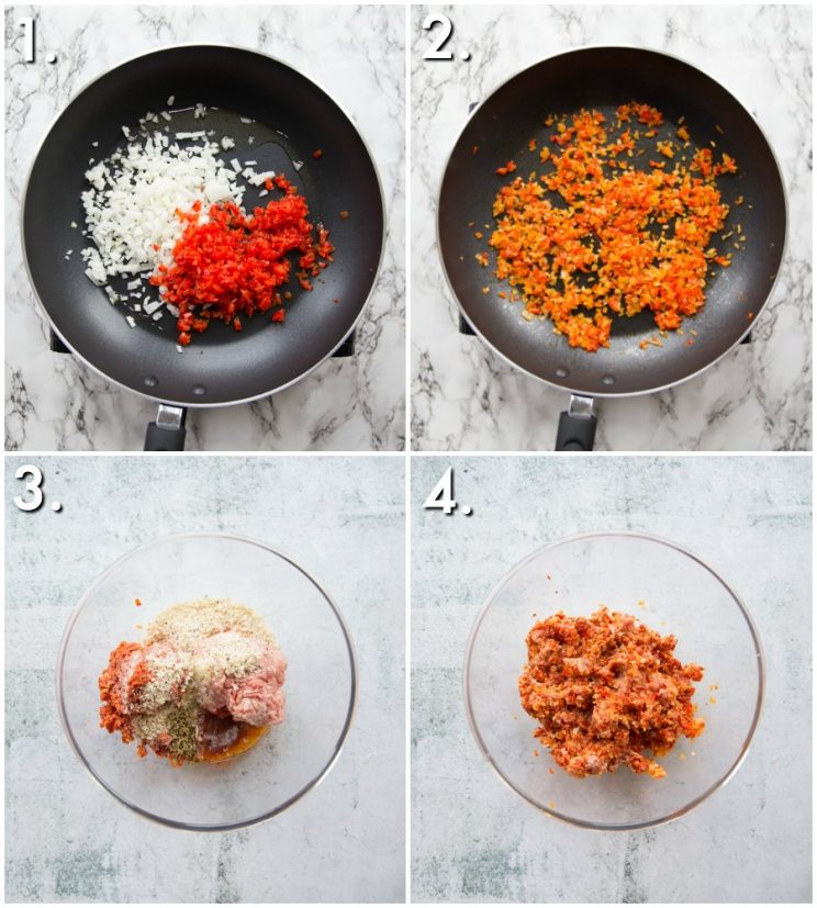 How to make Chorizo Sausage Roll filling - 4 step by step photos