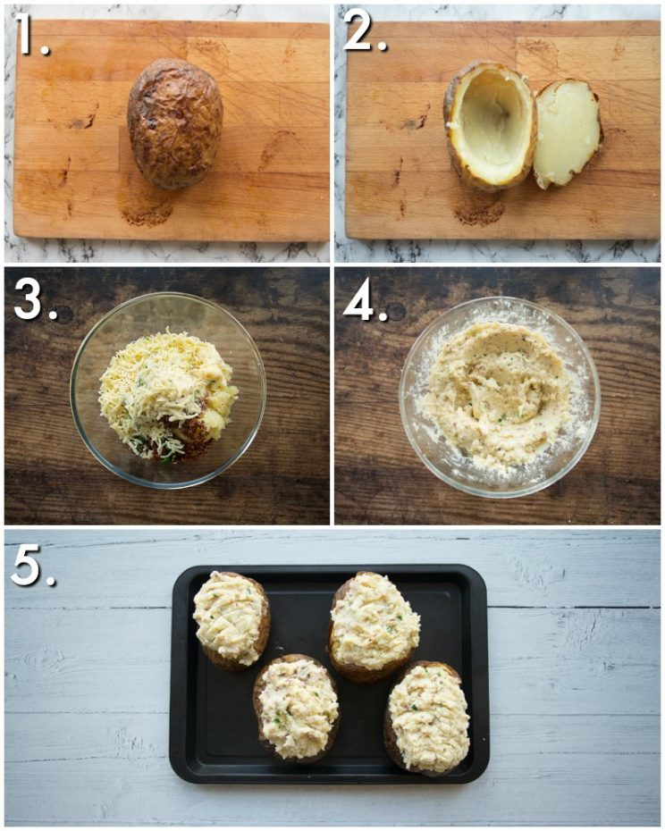 How to make loaded potatoes - 5 step by step photos