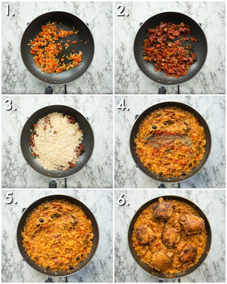 How to make One Pot Chicken Orzo - 6 step by step photos