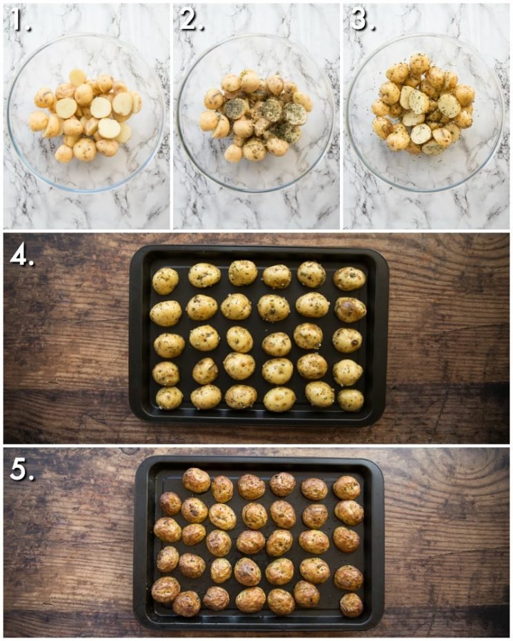 how to roast baby potatoes - 5 step by step photos