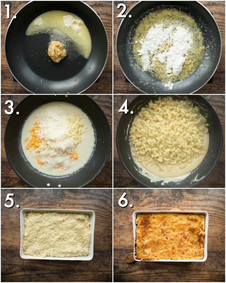 How to make Baked Mac and Cheese with Roasted Garlic - 6 step by step photos