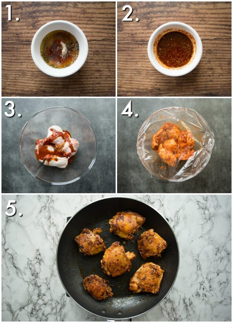 how to make Spanish chicken - 5 step by step photos