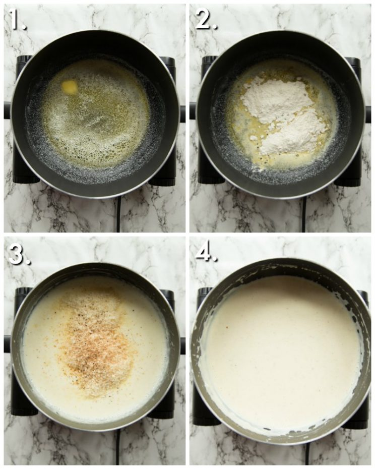 How to make Bechamel Sauce - 4 step by step photos