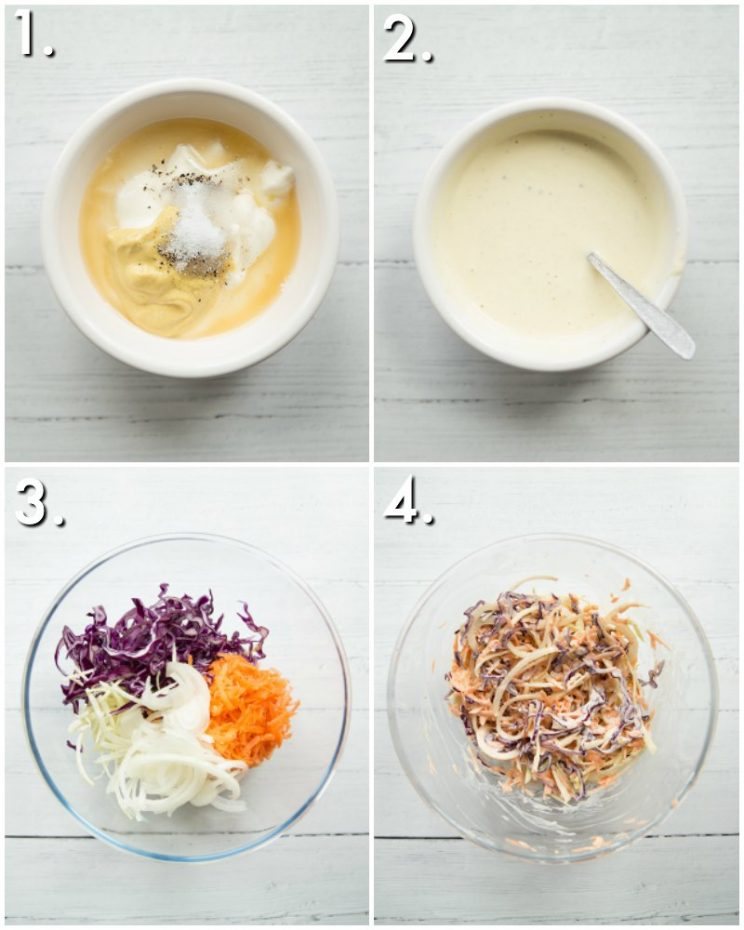 How to make coleslaw - 4 step by step photos
