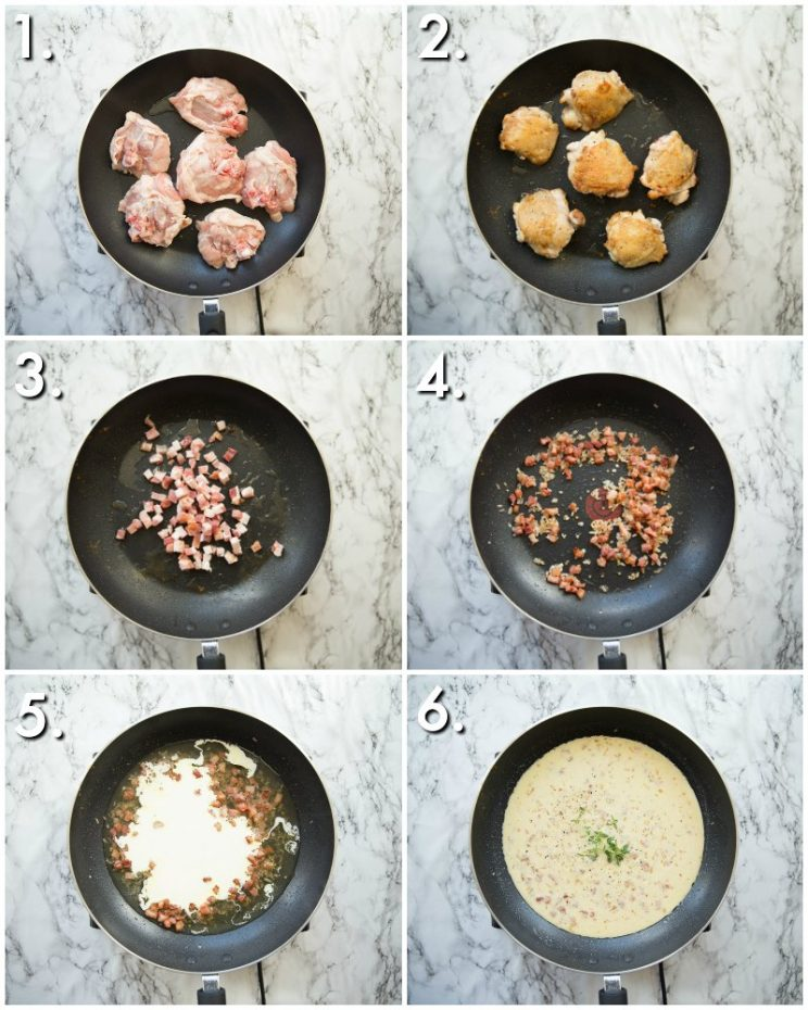 How to make creamy honey mustard chicken thighs - 6 step by step photos