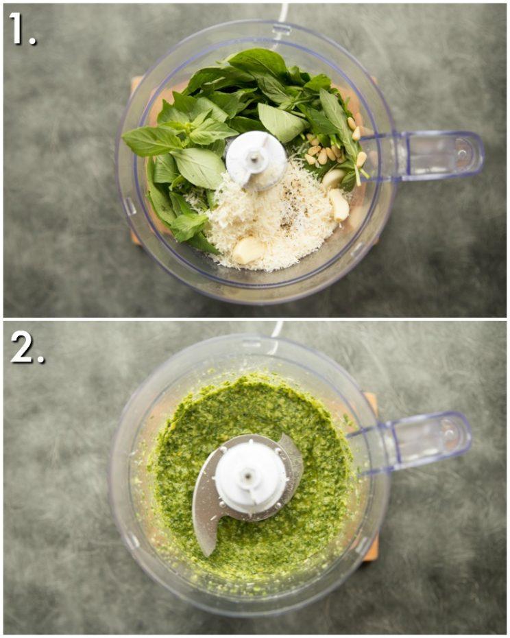 How to make basil pesto - 2 step by step photos