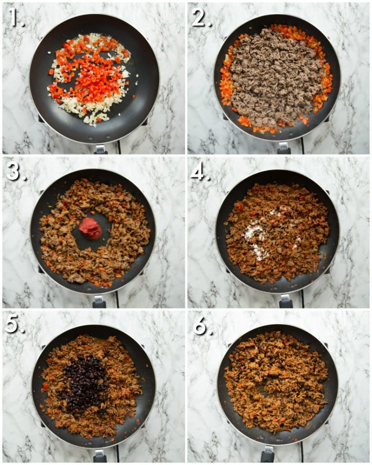 How to make ground beef quesadilla filling - 6 step by step photos