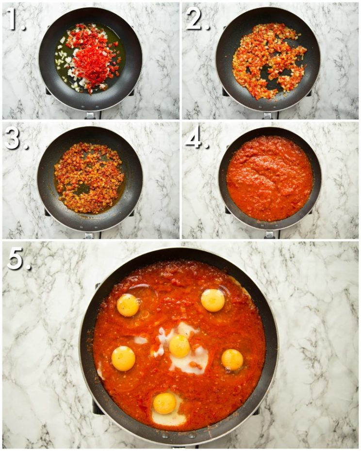 How to make shakshuka - 5 step by step photos