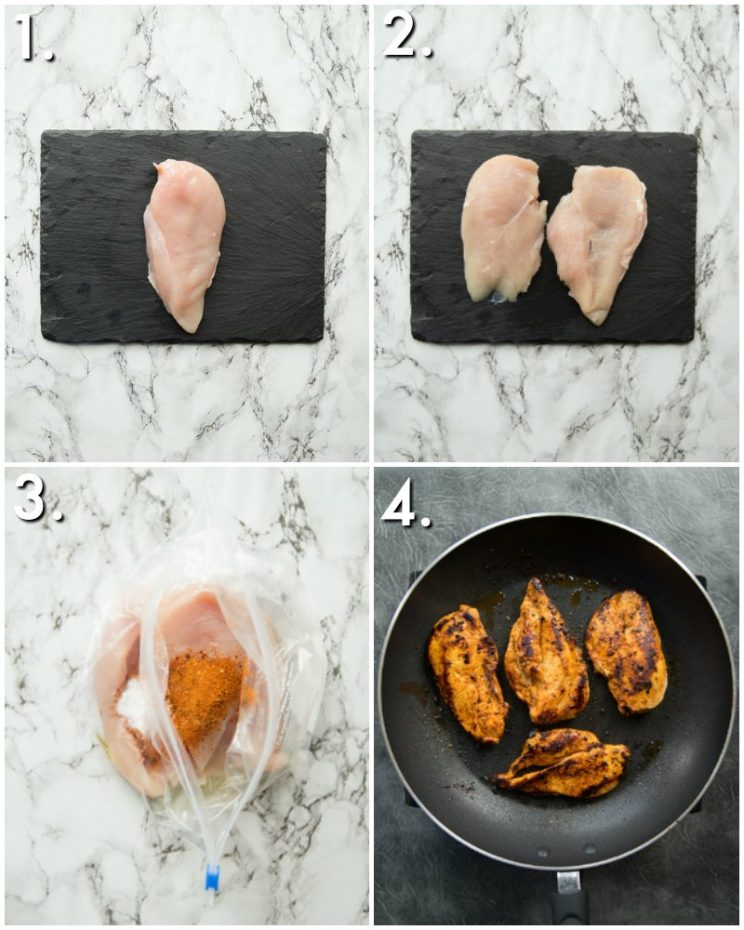 how to fry cajun chicken breast - 4 step by step photos