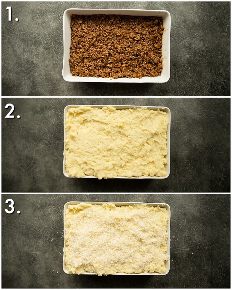 How to layer shepherd's pie - 3 step by step photos