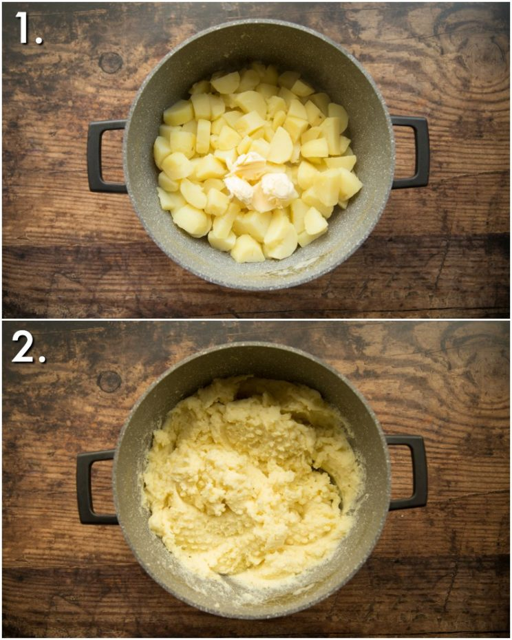 How to make mashed potato for shepherd's pie - 2 step by step photos
