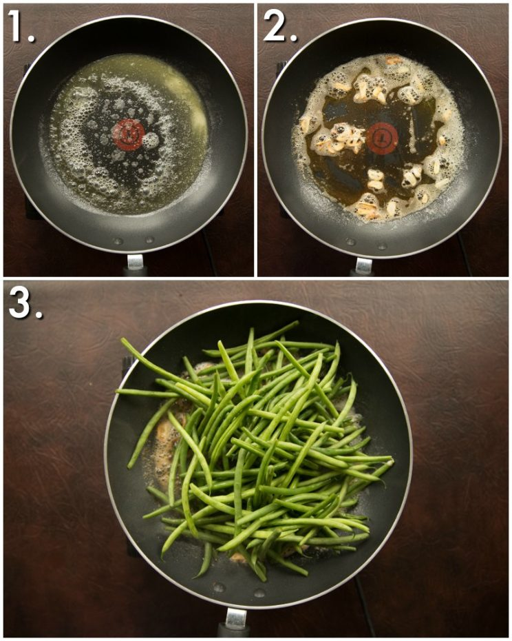 How to make garlic green beans - 3 step by step photos