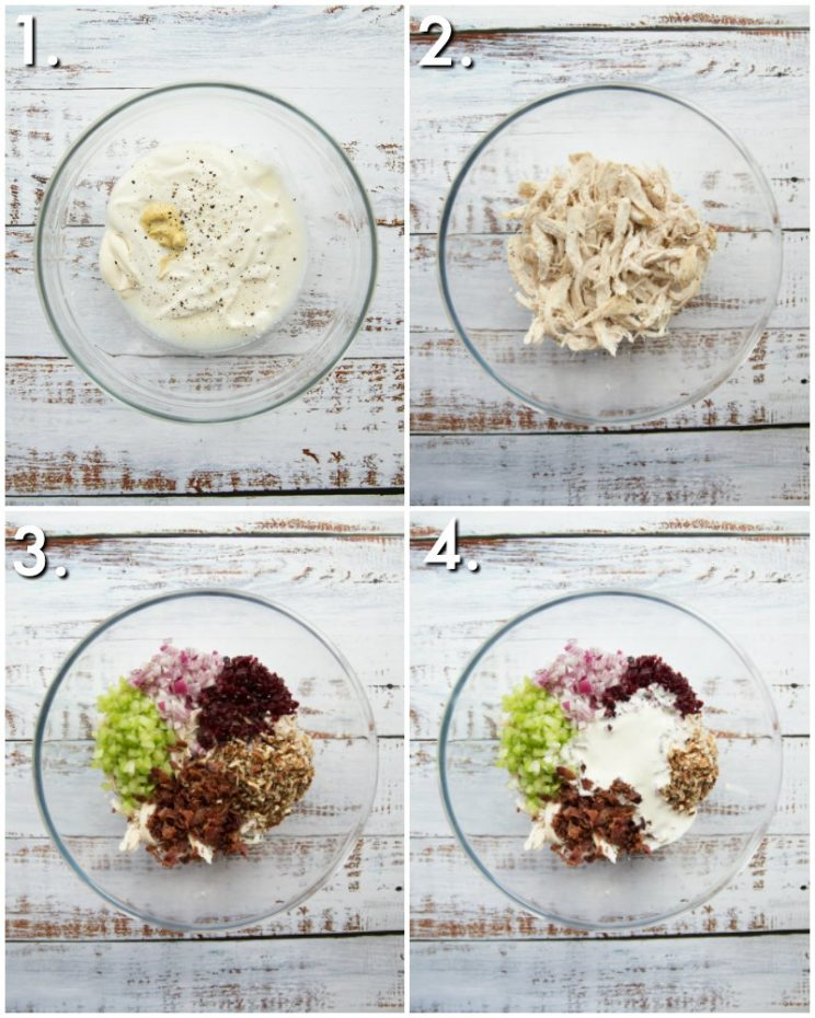 How to make leftover chicken salad - 4 step by step photos