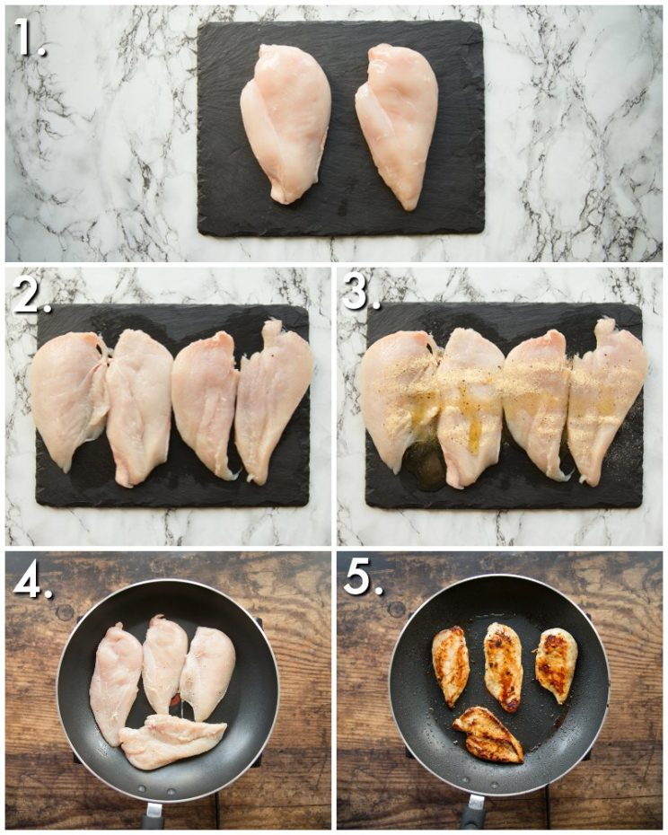 How to cook chicken for pasta - 5 step by step photos