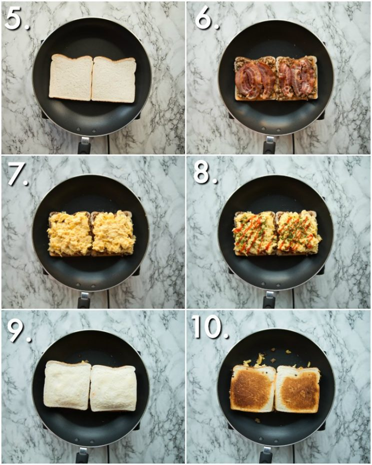 How to make a breakfast grilled cheese - 6 step by photos