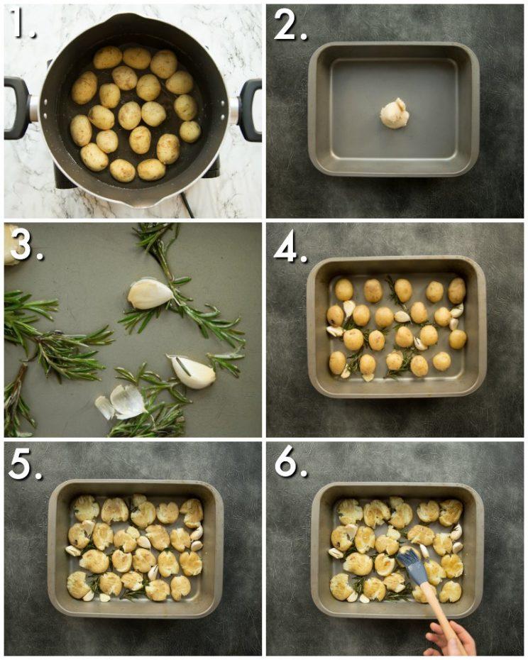 How to make crispy smashed potatoes - 6 step by step photos