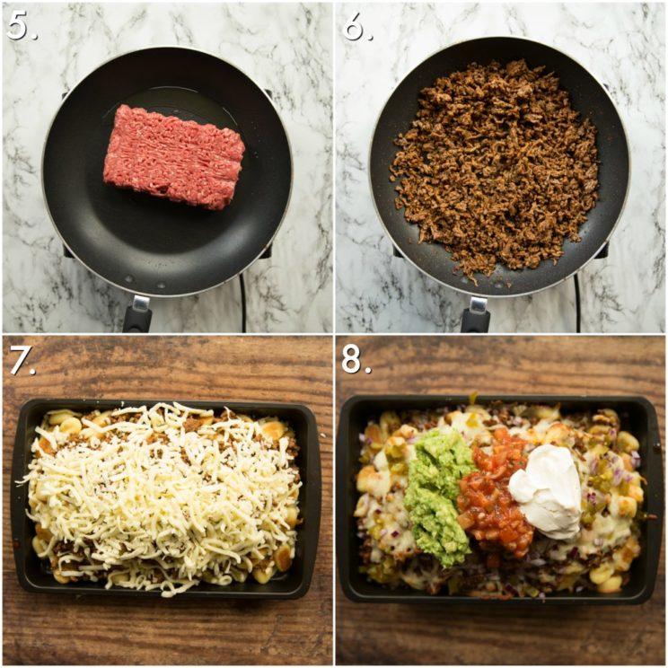 How to make gnocchi nachos - 4 step by step photos