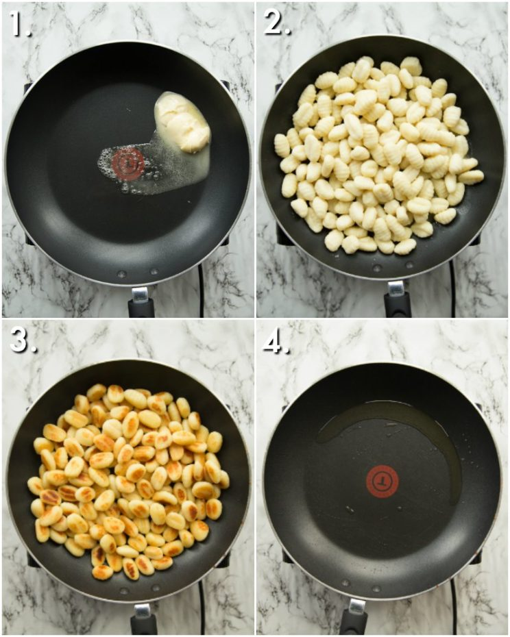 How to Pan fry gnocchi for nachos - 4 step by step photos