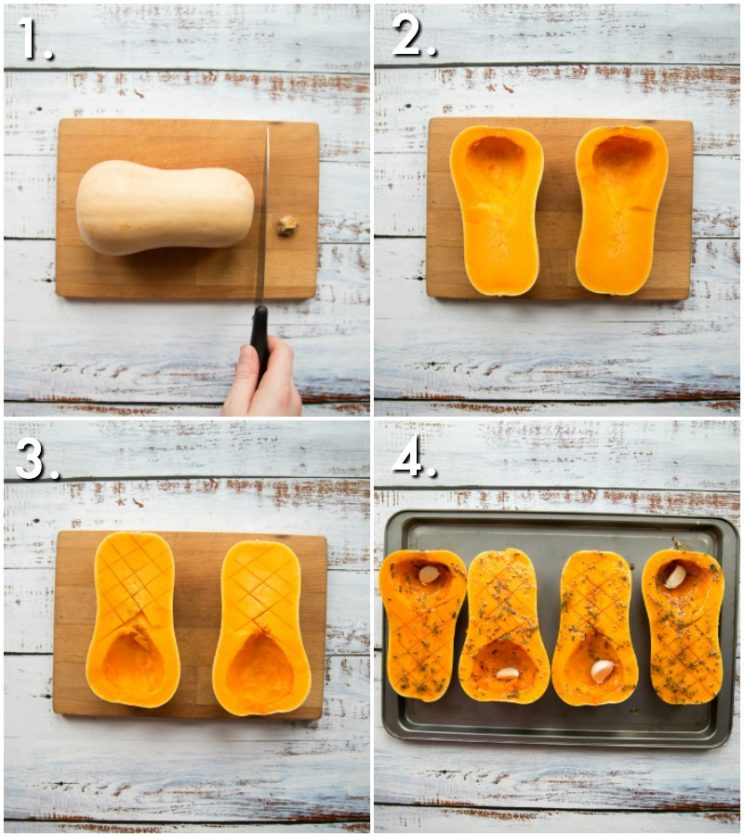 How to prepare butternut squash - 4 step by step photos