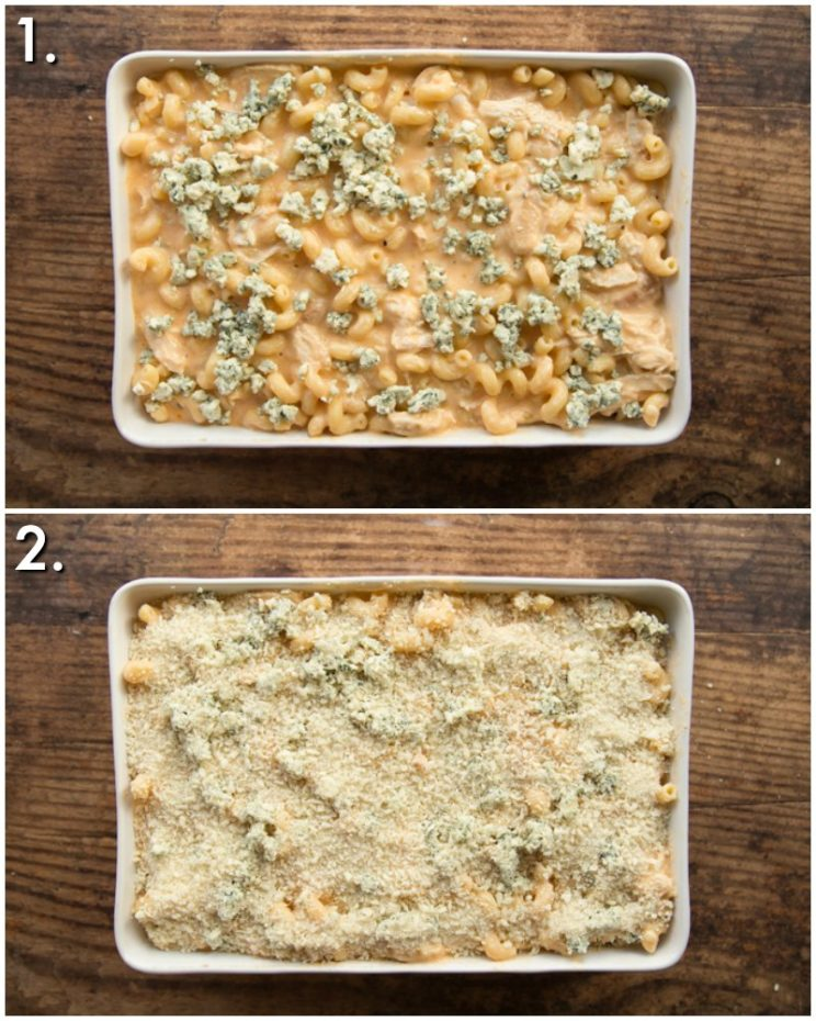 How to bake buffalo chicken mac and cheese - 2 step by step photos