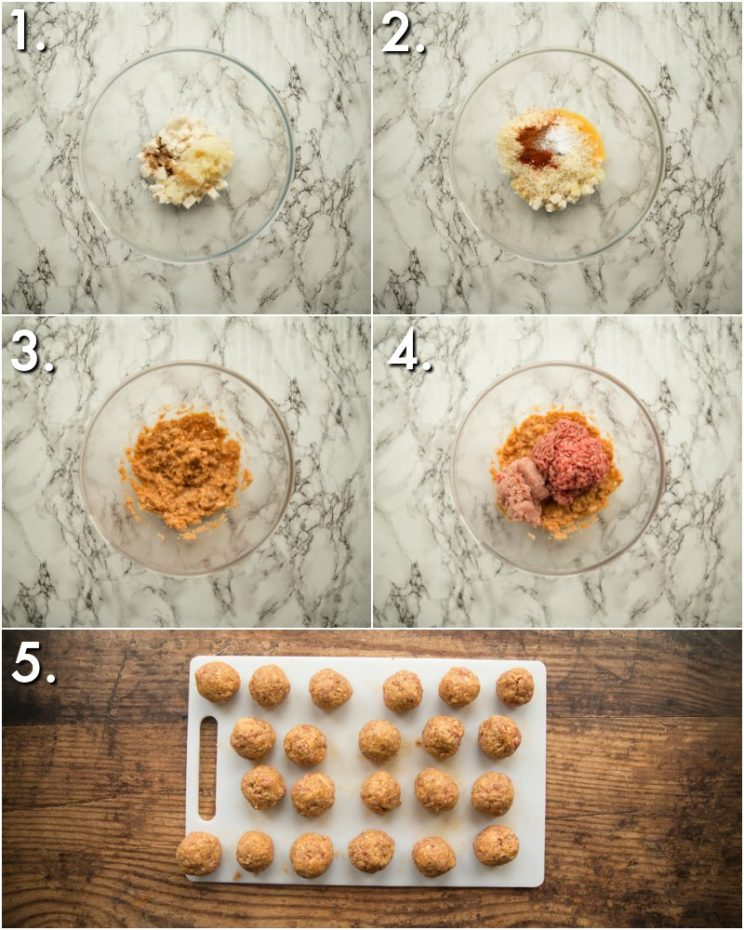 How to make bbq meatballs - 5 step by step photos
