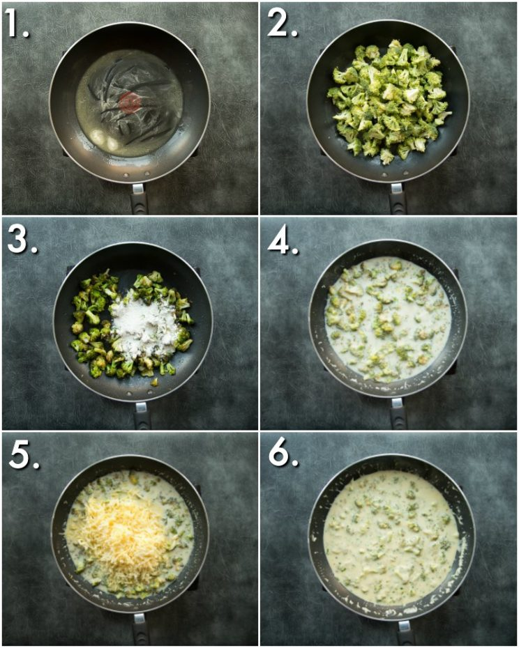 How to make broccoli cheese - 6 step by step photos