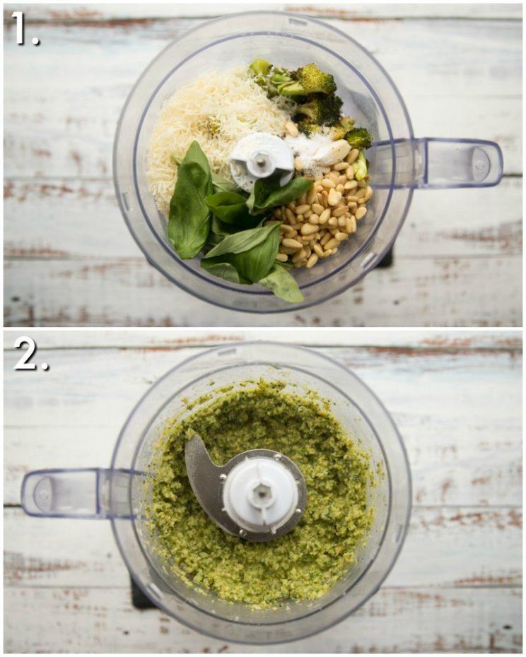 how to make broccoli pesto - 2 step by step photos