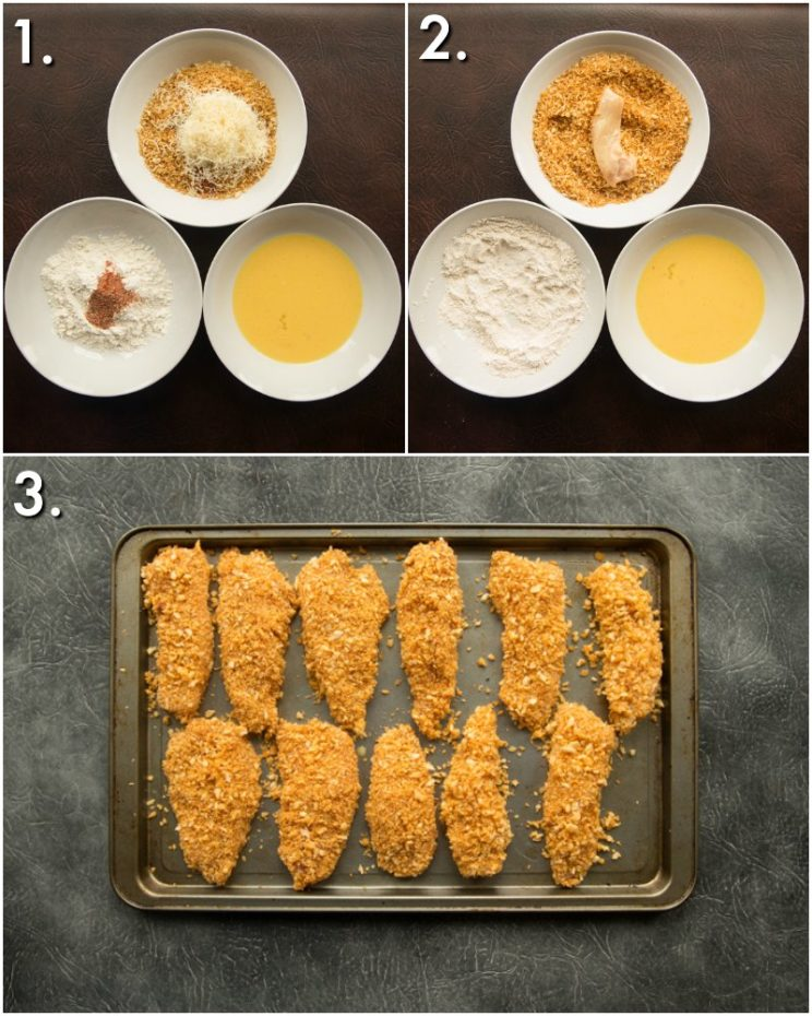 how to bake chicken tenders in the oven - 3 step by step photos